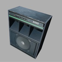 Bass Guitar Amplifier 3D Model