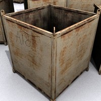 Metal Skip Container 3D model