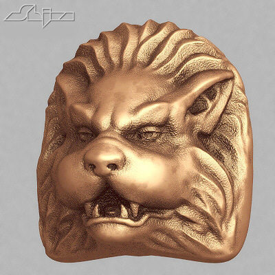 beast sculpture 3d model