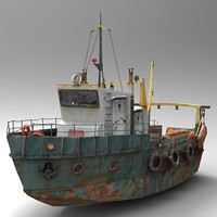 3d model fish trawler