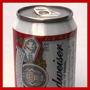33cl budweiser beer 3d max