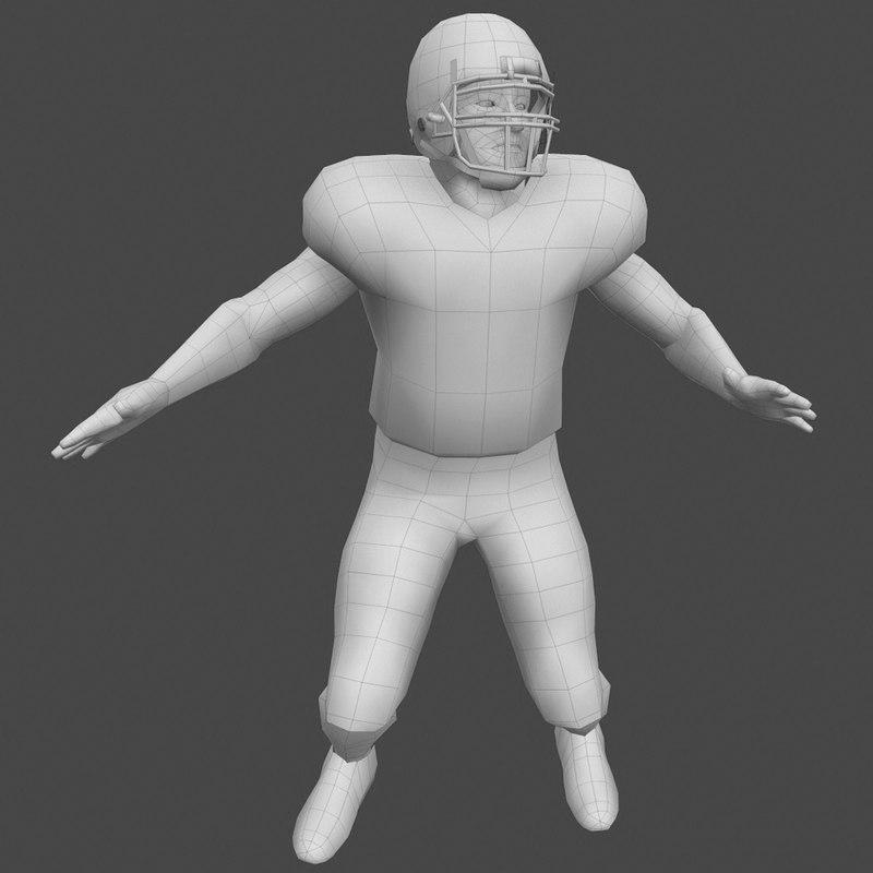 football player 3d model