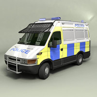 3d model of uk police van