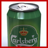 3d 33cl carlsberg beer model