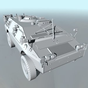 obj military amphibious vehicle