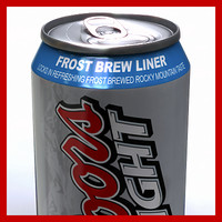 Coors Light Beer Can - 33cl