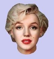 3d head marilyn