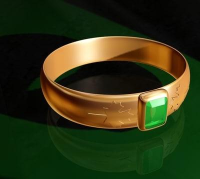 golden ring 3d model