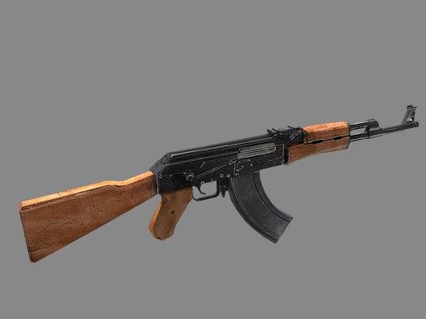 AK-47 3D Models for Download | TurboSquid