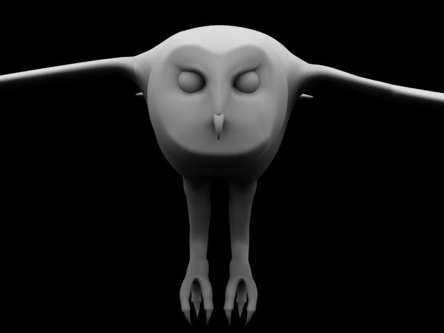 3d owl wing