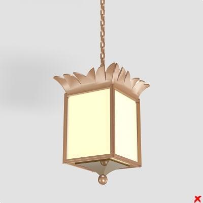 3d model of lamp hanging