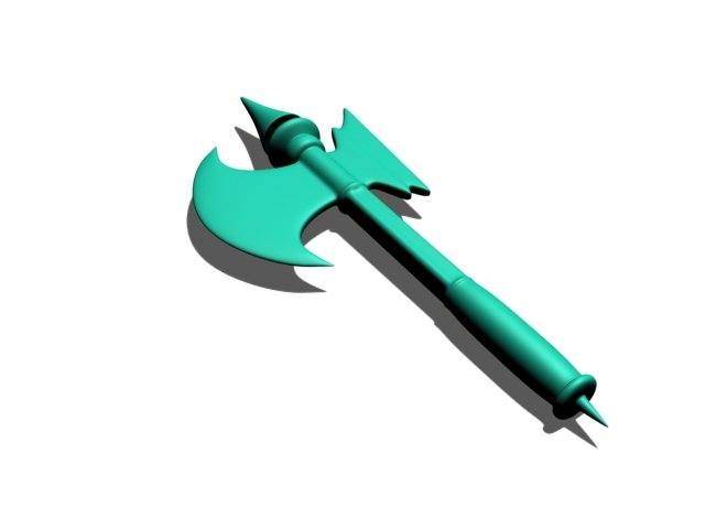 battle axe games rpg 3d model