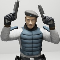 officer antiterrorist assault platoon 3d max