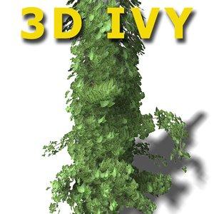 3d ivy columns
