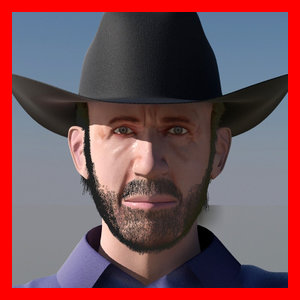 texas ranger 3d model