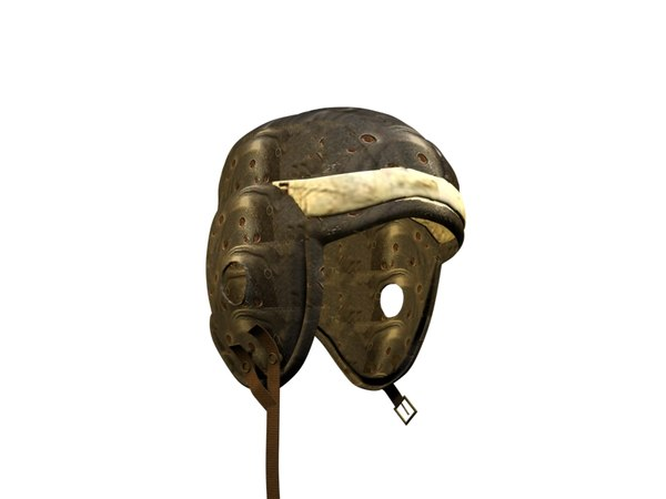 vintage football helmet 3d model