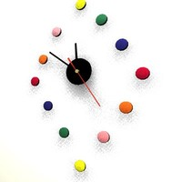 colored wall clock 3d model