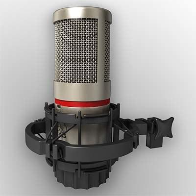 akg c 4000 b 3d model
