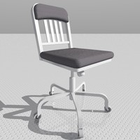 navy swivel chair 3d model
