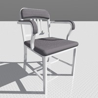 3d navy armchair designed
