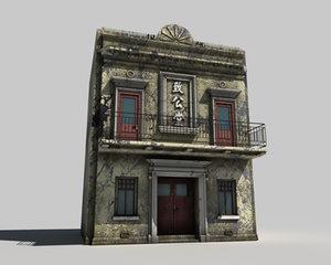 3ds max chinese masonic building