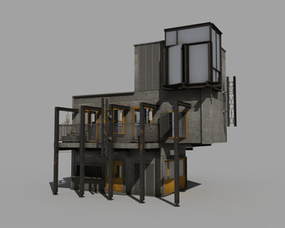 3ds max cafe bar