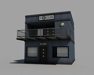 3d model of cafe bar