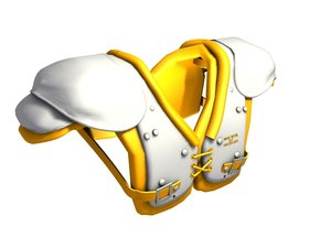 3d football shoulder pads model