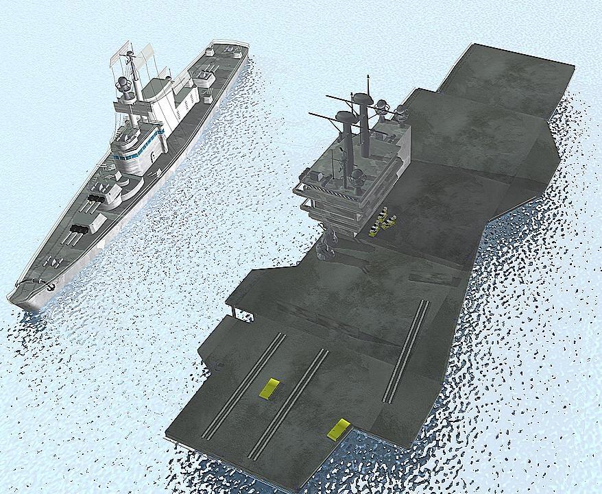 navy package carrier battleships 3d c4d