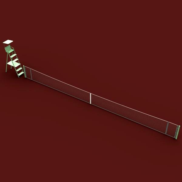 tennis net 3d model