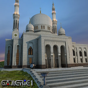 mosque moschee c4d
