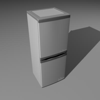 upright fridge freezer 3d model
