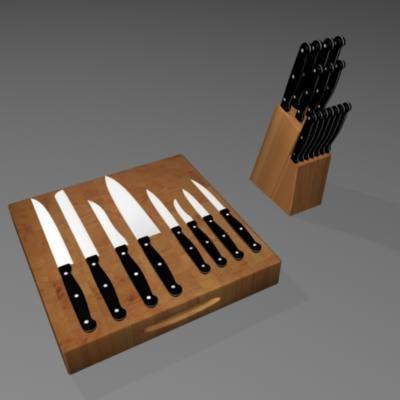 kitchen knives 3ds