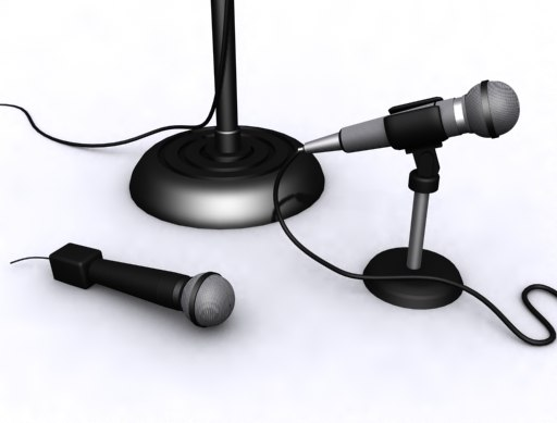 3d microphone set mic stand