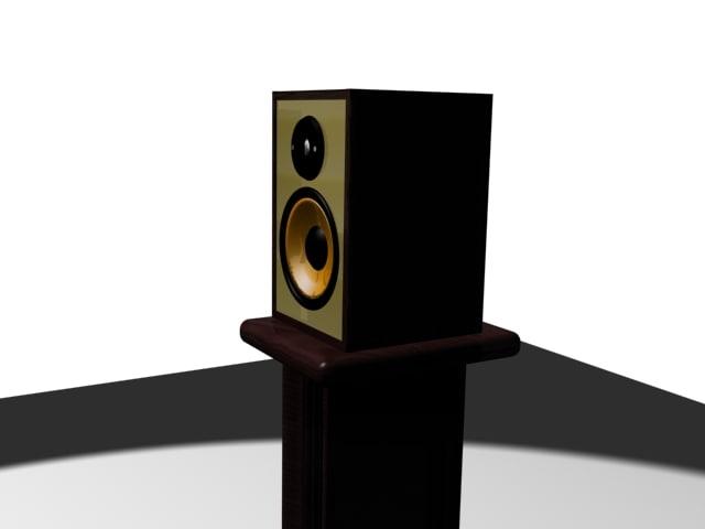 3d hi fi bookshelf speakers model
