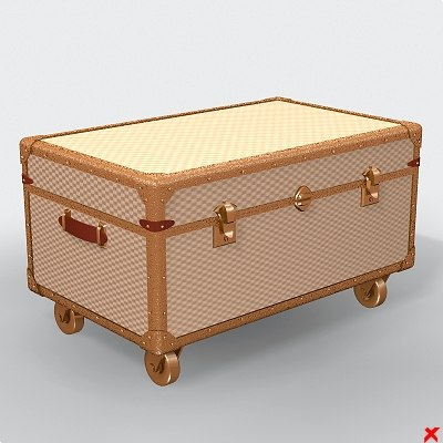 3d 3ds chest case coffer