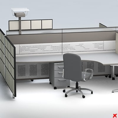 3d model of office table