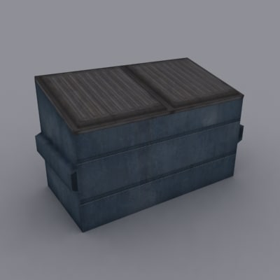 3d model dumpster trashcan
