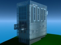 3d max modern architecture home