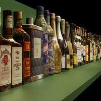 bottles 31 liquor 3d model