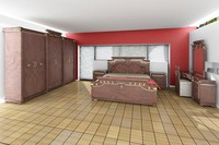 3d model of bed room