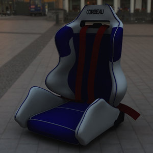corbeau racing seat 3d model