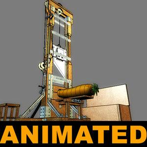 3d guillotine anima