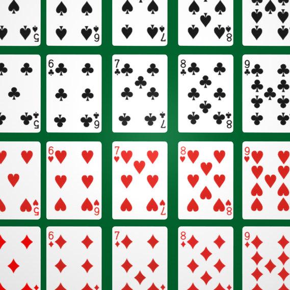 3d set cards model