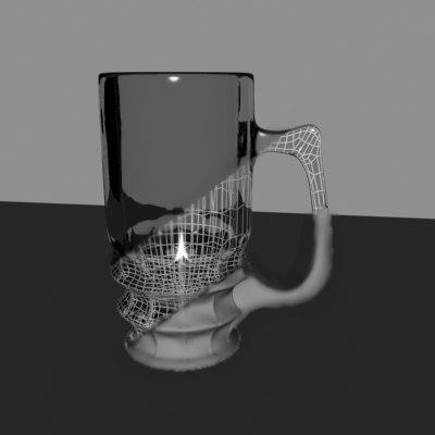3d pint glass model