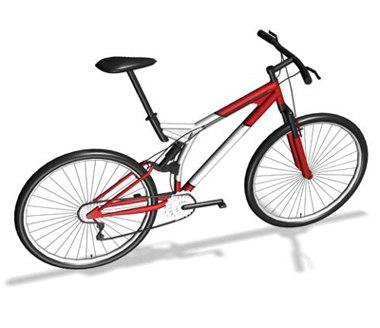 3d mountain-bike model