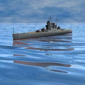 3d fantasy battleship
