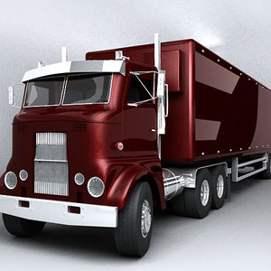 3d semi truck vintage