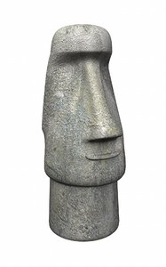 3ds max easter island statue