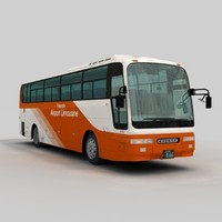 3d mitsubishi fuso aero queen model